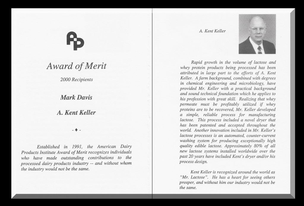 Award - American Dairy Products Institute Award of Merit